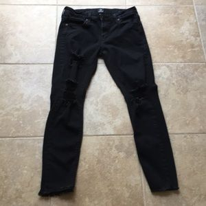 JUST BLACK jeans size 28 faded black distressed